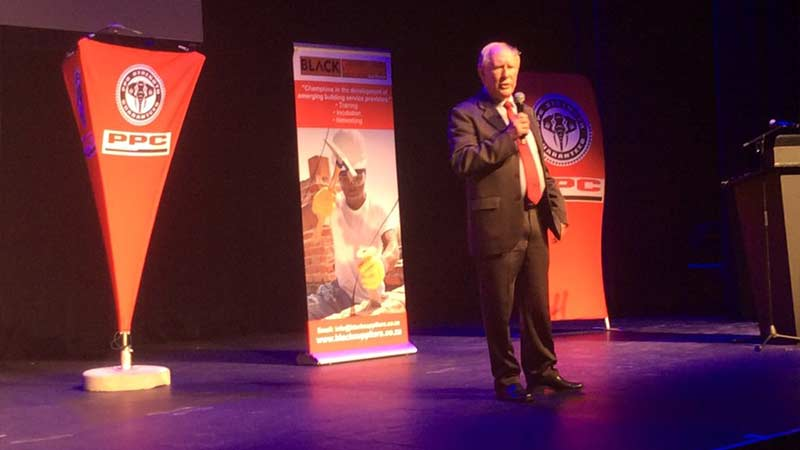 Ed Hatton speaks at the Emerging Contractors conference in Soweto
