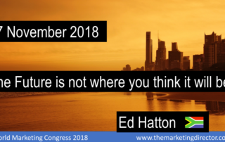Title od keynote speech to the World marketing Congress Mumbai 2018